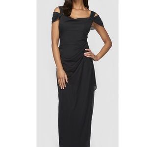 GENTLY USED - Mesh Draped Gown